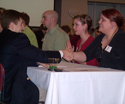 Learn and practice networking skills at the Speed Networking Event April 27