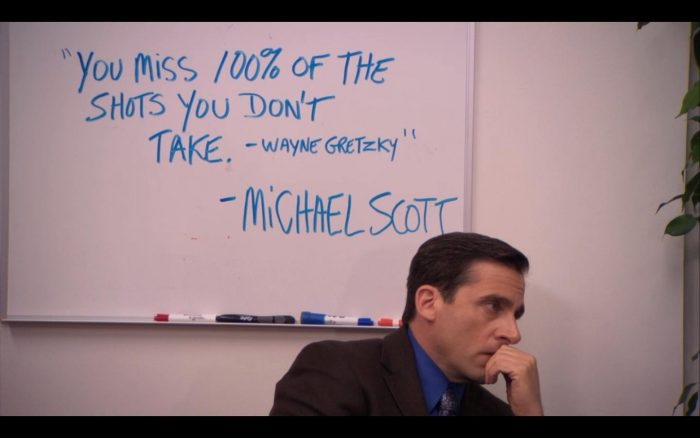 Michael Scott quoting Wayne Gretzky