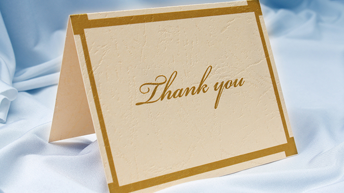 Thank-you letters and other ways to show appreciation