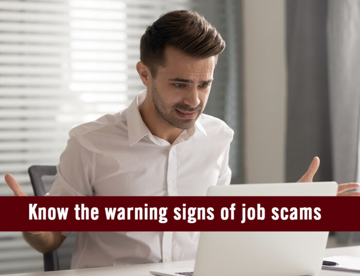 Warning signs of job scams