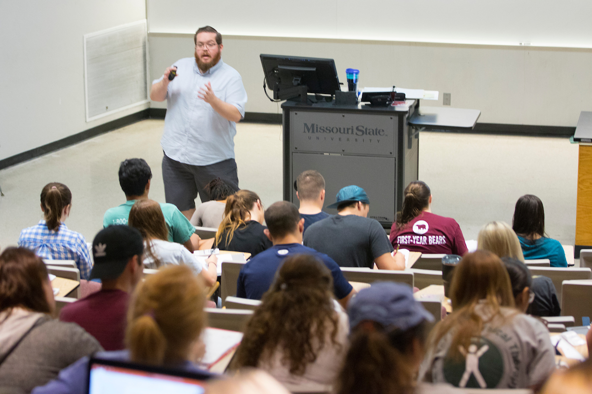 Siebert shares knowledge at Organic Chemistry Day