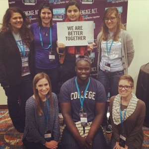 Samantha Nichols, top right, creator of Linked, the MSU student organization for interfaith dialogue and service