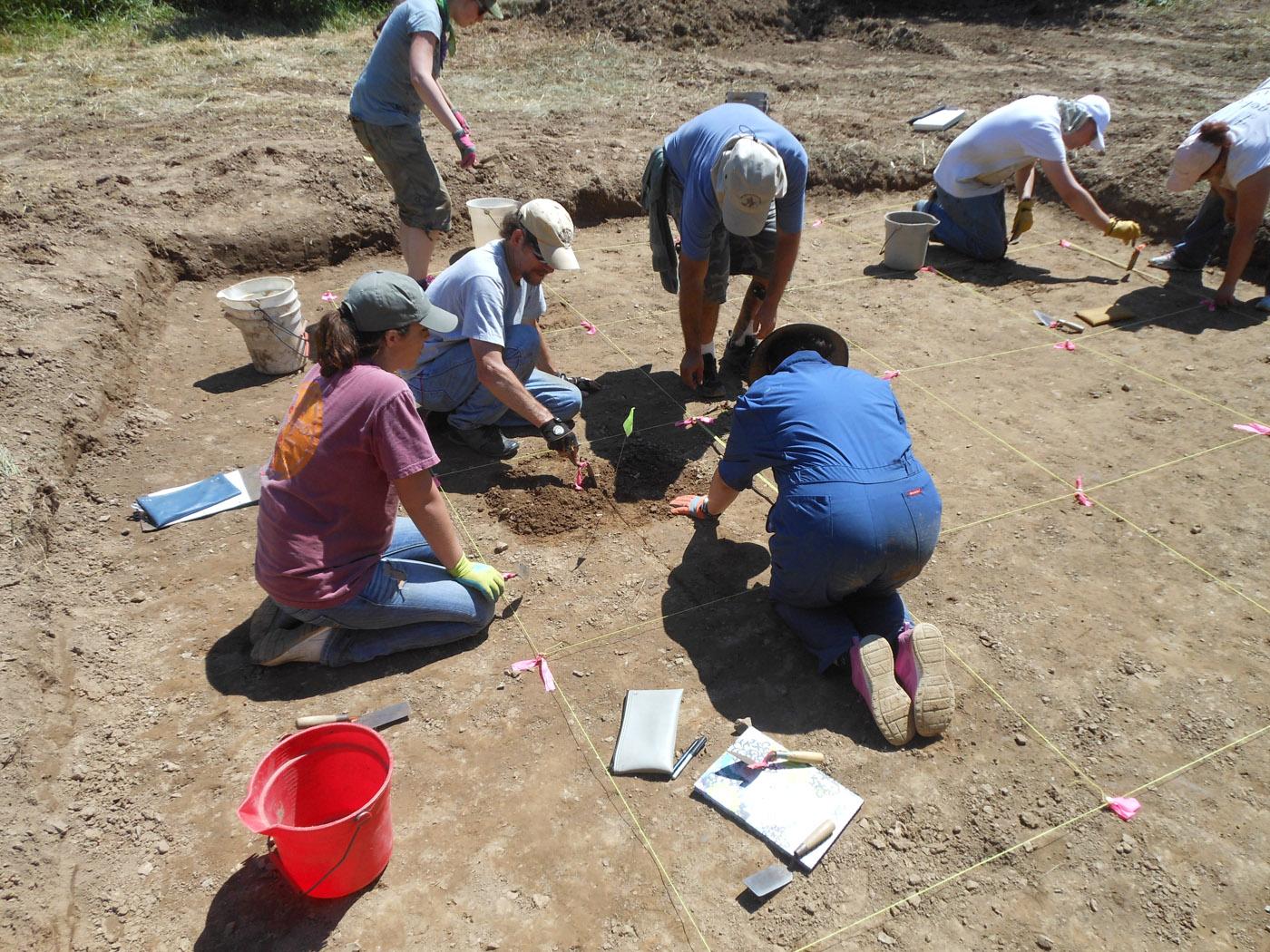 MSU Field School at Horseshoe Sinkhole Site