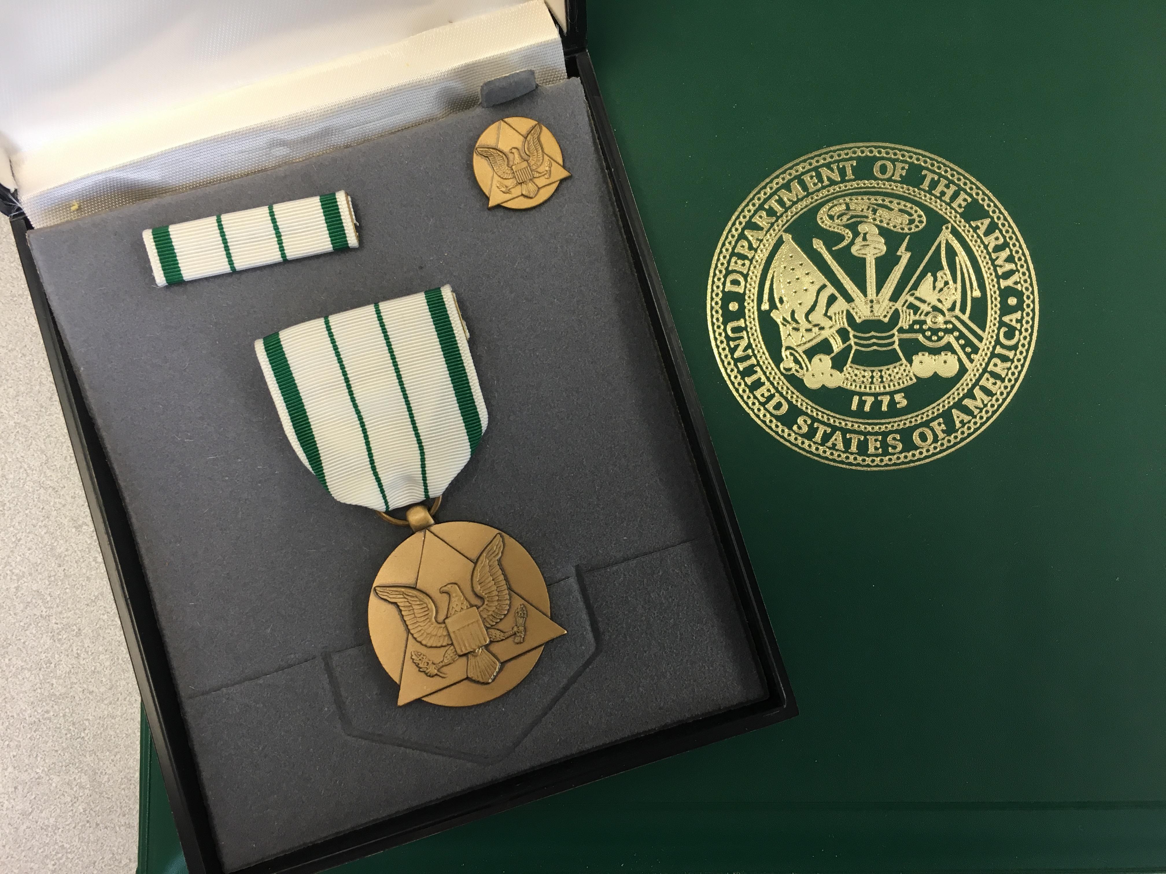 Victor Matthews Receives Commander's Award for Public Service