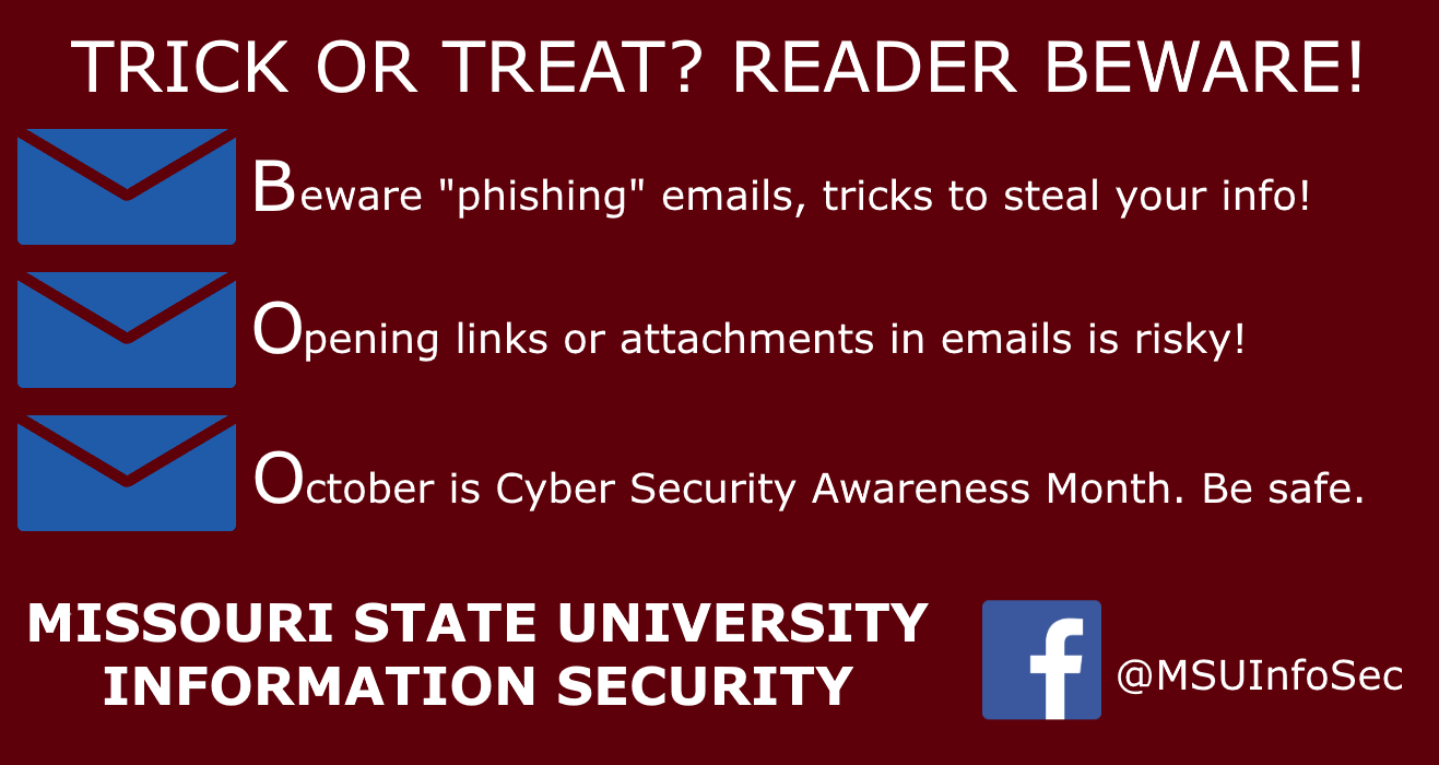 Happy Halloween! It's National Cyber Security Awareness Month!