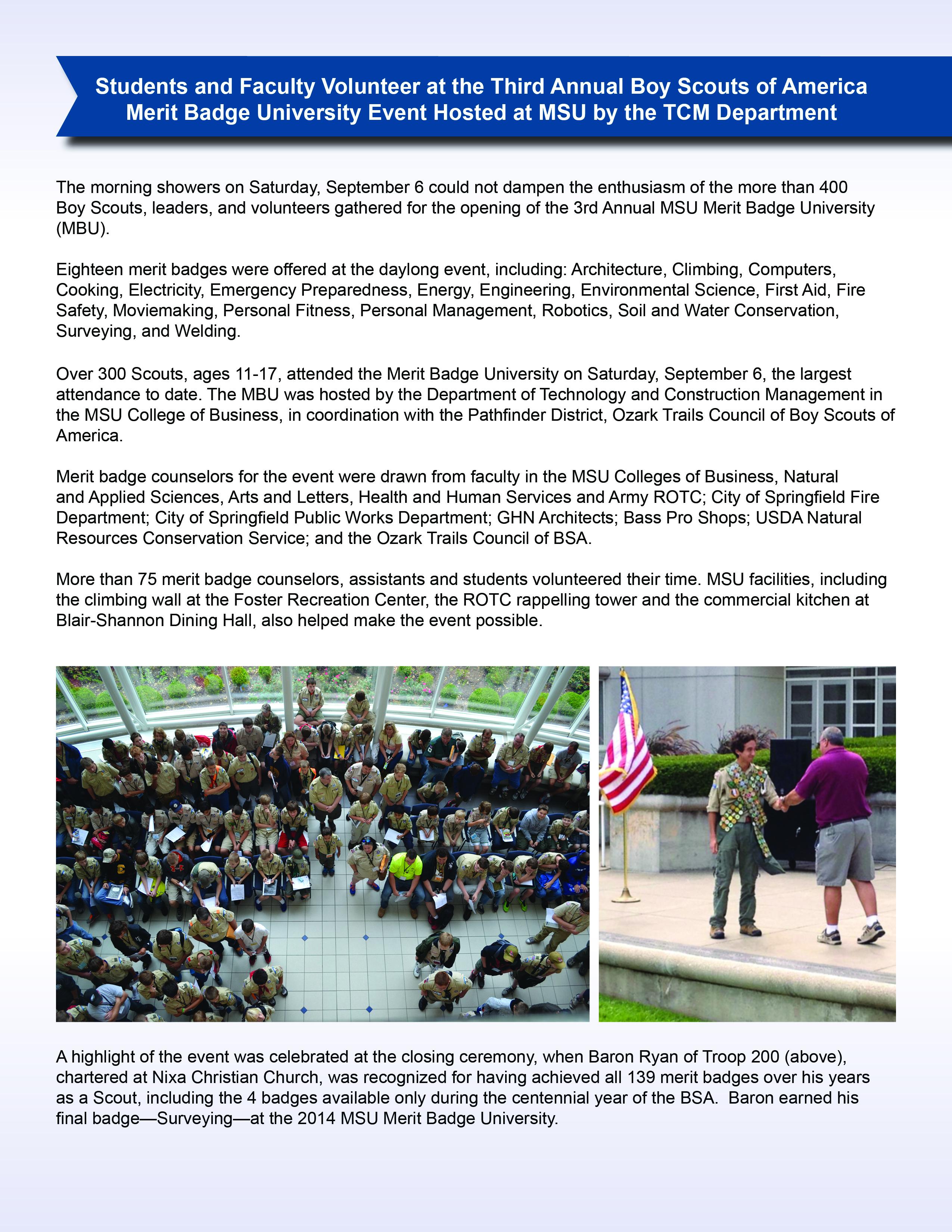 TCM Newsletter Fall 2014 (September)
