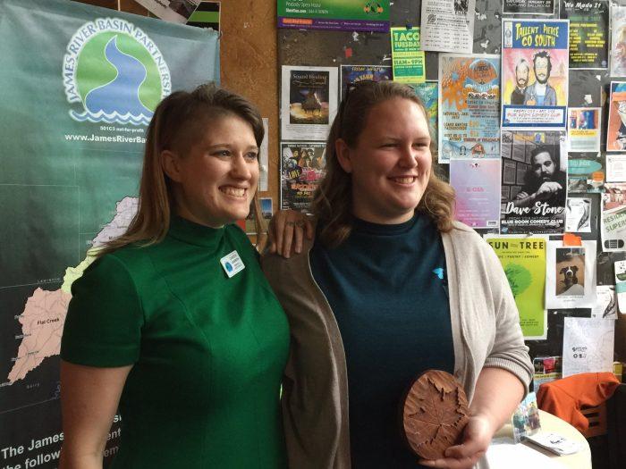Brooke Widmar posing with her award.