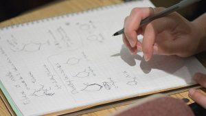Chemistry formulas on paper