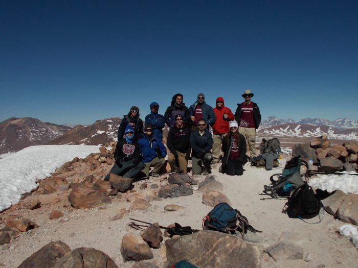 Group photo on top of Cerro Toco