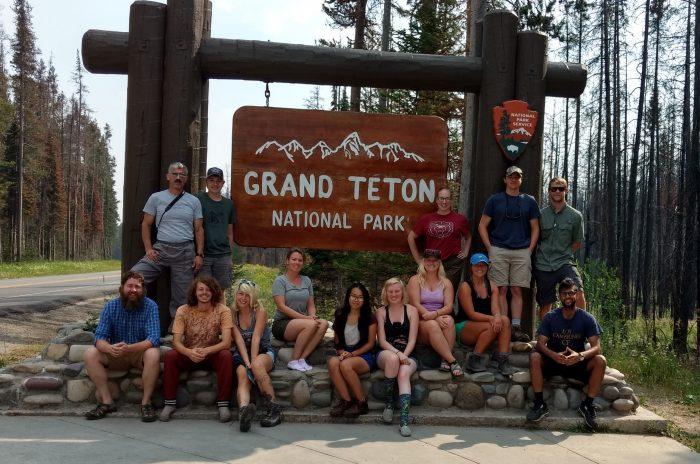 Group photo at the Grand Tetons