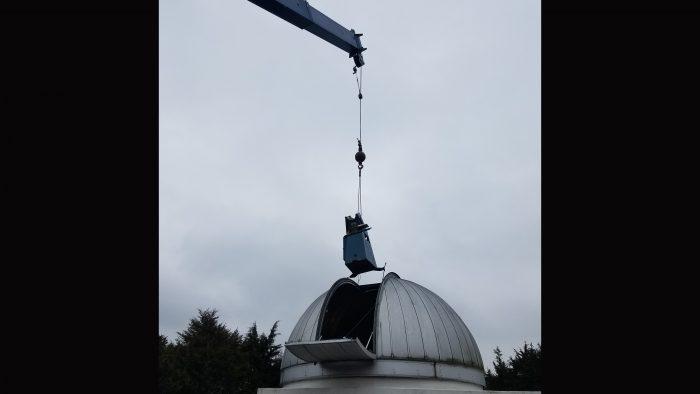 putting in the telescope