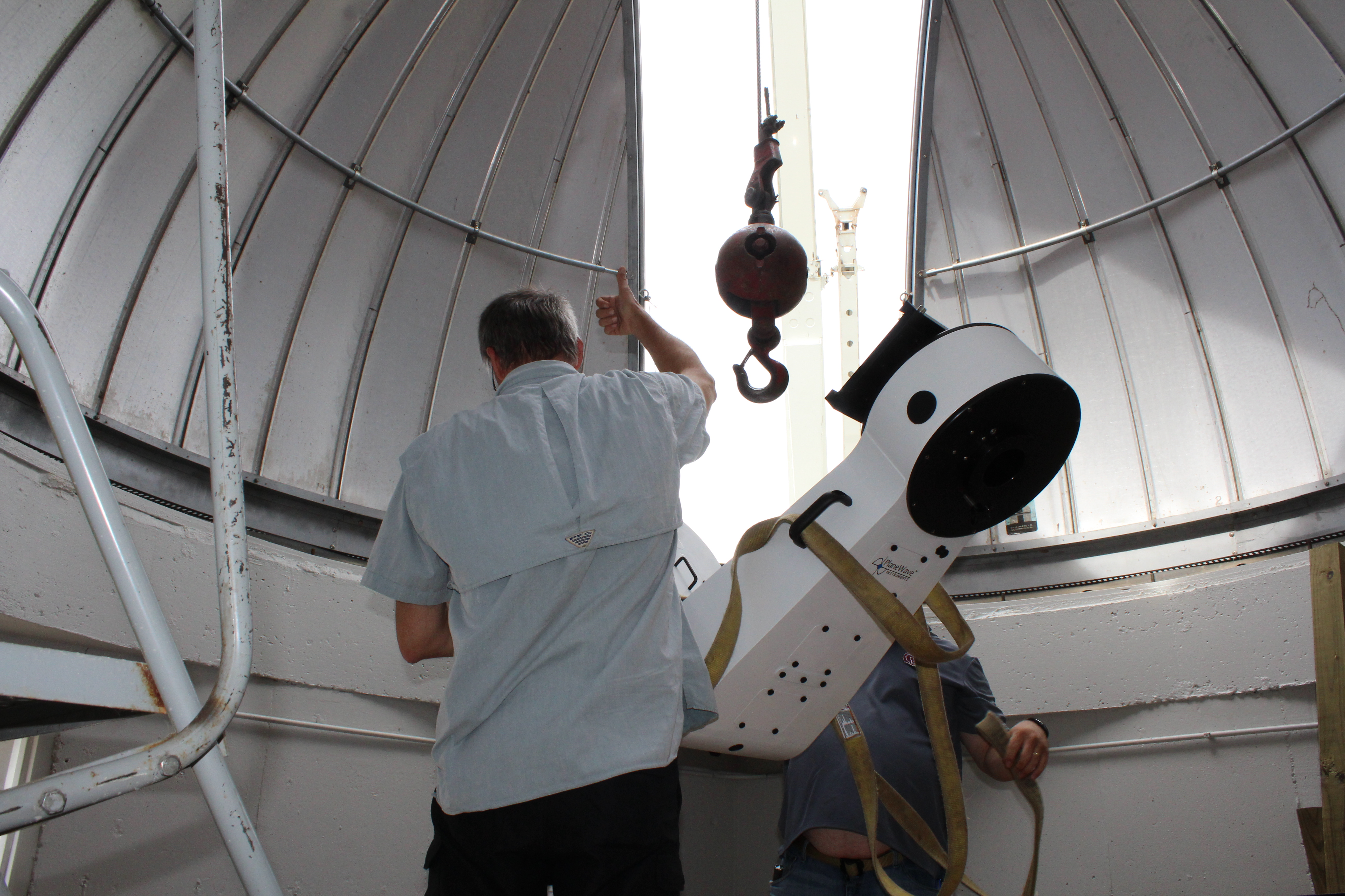 Putting in the telescope