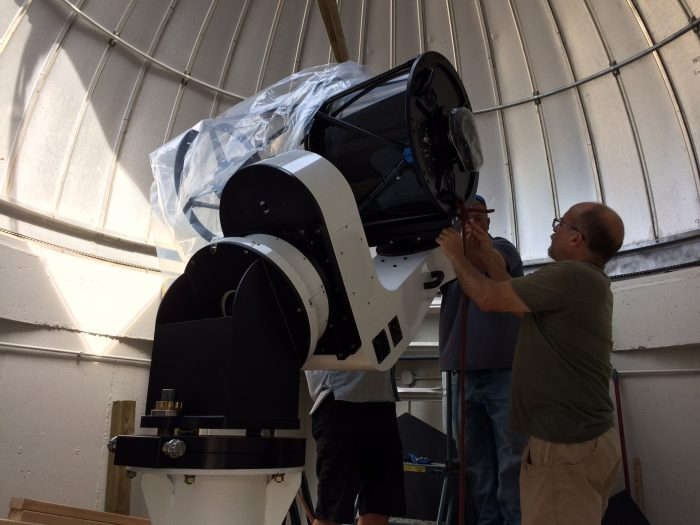 taking plastic off telescope
