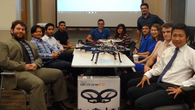 Undergraduate student flies to Texas
