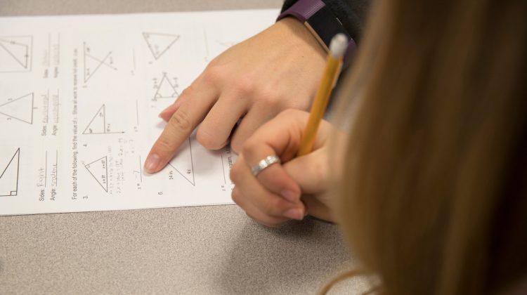 Teaching math to someone
