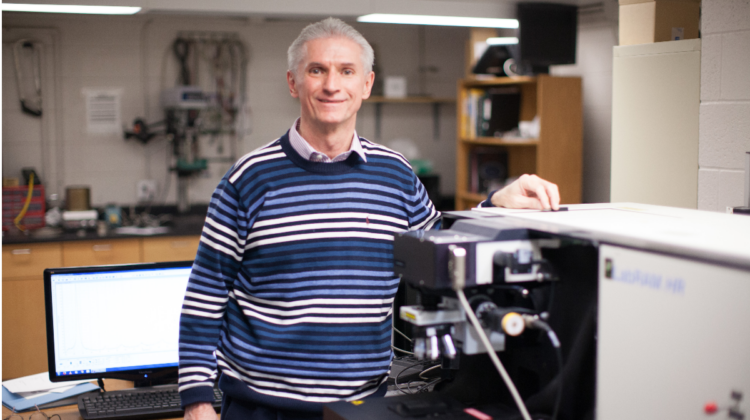 Dr. Robert Mayanovic in his lab.