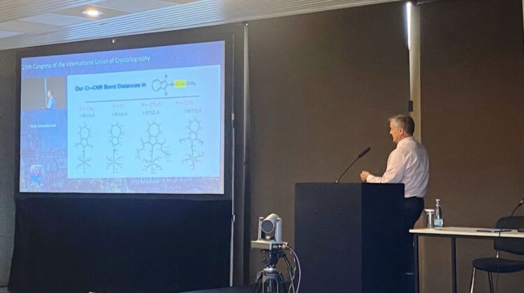 Dr. Gerasimchuk presents at the 25th Congress of International Union of Crystallography Conference.
