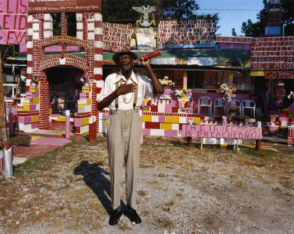 Reverend HD Dennis with Ear Trumpet, Mississippi, #1, 2005