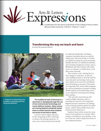 Fall 2012 issue of Arts & Letters' Expressions