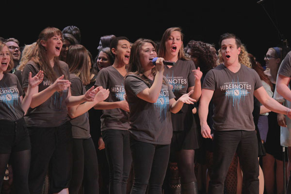 MSU's Hibernotes perform at quarterfinals in February.