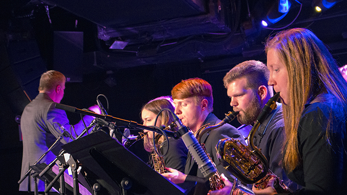 Missouri State University Jazz Ensemble performing at the NYC Showcase