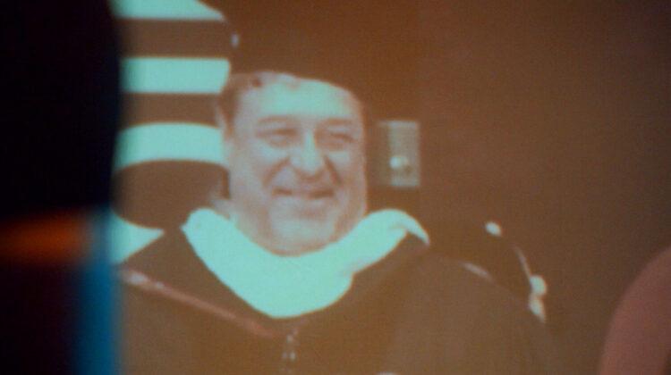 Projection of John Goodman's 2013 speech at Missouri State University