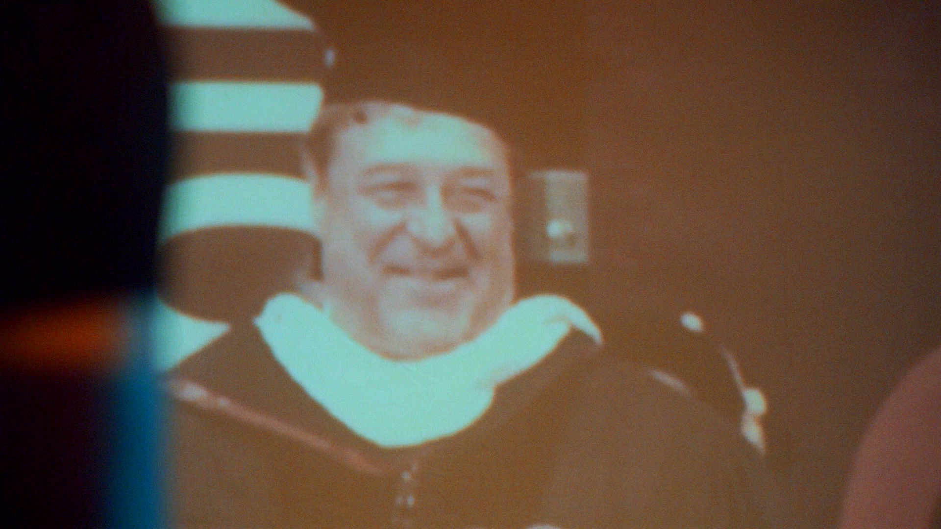 Projection of John Goodman's 2013 speech at Missouri State University