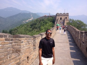 Rowey at The Great Wall of China in Beijing, China