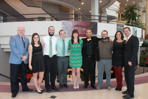 Entertainment Management Students with Department Head Bill Donoher and Dr. Rothschild