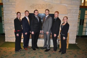 MSU Commercial Division Team at the Associated Schools of Construction competition 2013-Christine Crocker, Brian Kinny, Aaron King, JC Davidson, Nathan Kessinger, Chelsea West