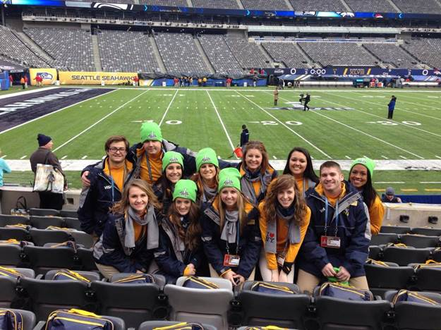 Entertainment Management Students Volunteer at Super Bowl XLVIII