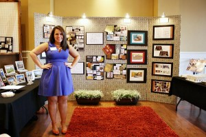 First place winner shannon with her display booth