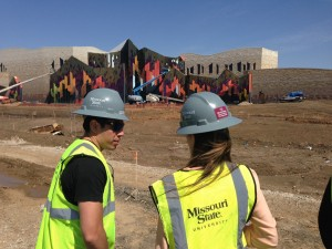 students at a build site in KC