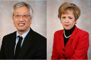 head shot of Dr. Jerry Chin and Mary Chin