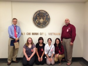 Students and Instructor Pham at at the U.S. Consulate in Ho Chi Minh City