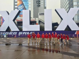 EMA students at Super Bowl XLIX 2015, Chase Field. AZ