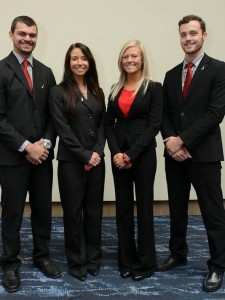 from left, Jennifer Richey, Jared Huffman, Hillary Rice and Casey Cornelius.