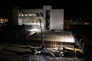 3 AM concrete pour of the 2nd floor-April 2016