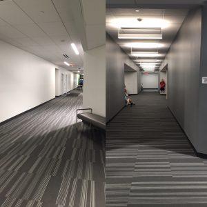 Interior hallways, August