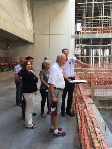 Robert & Marlese Gourley and Jim Wilson toured the Robert Gourley Student Success Center September 1.