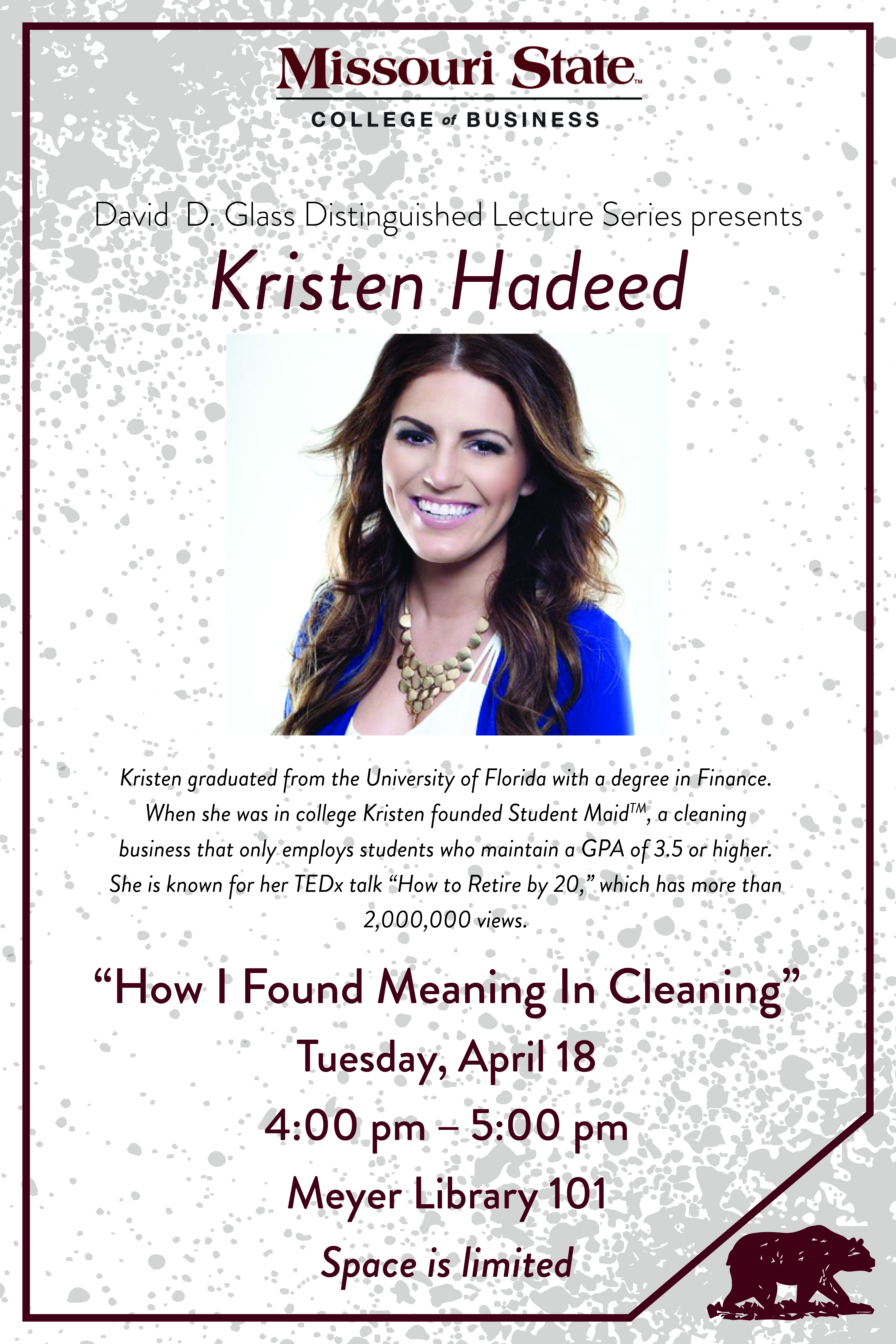 David D. Glass Lecture Series Welcomes Kristen Hadeed
