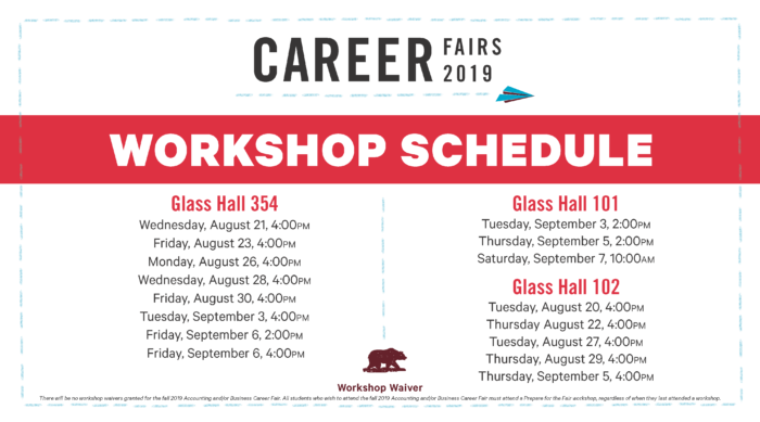 Prepare for the Fair Workshop Schedule