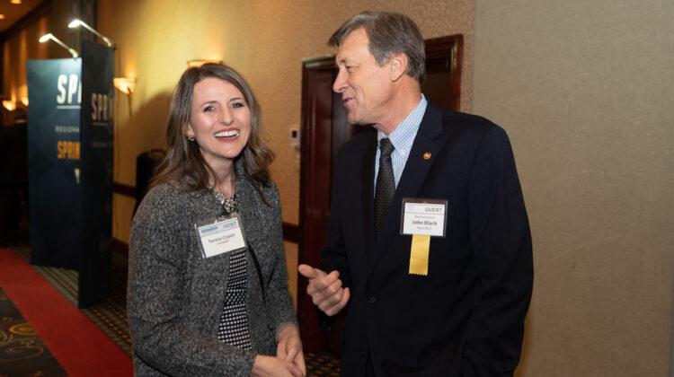 Teresa Coyan and Representative John Black at the Springfield Salute to Missouri Legislators reception.