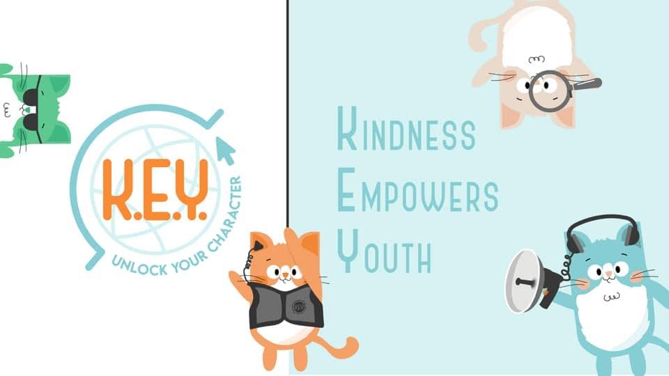 K.E.Y. logo with cartoon secret agents.