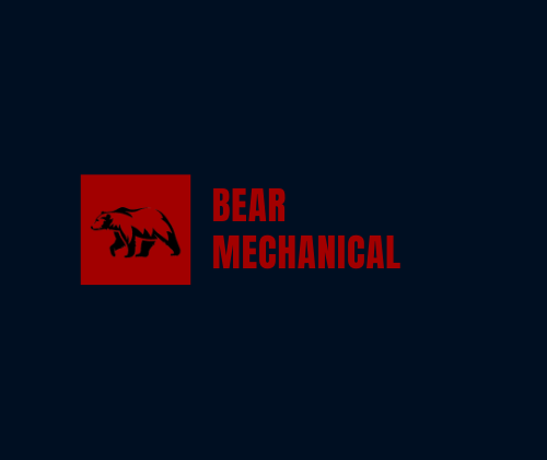 "Red logo of a bear with ""Bear Mechanical"" next to it."