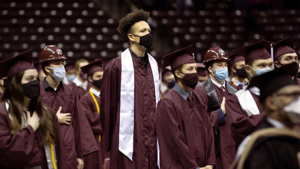 Darian Scott at graduation