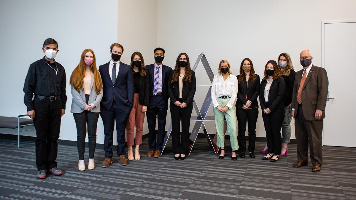 MSU Ad Team poses for photo