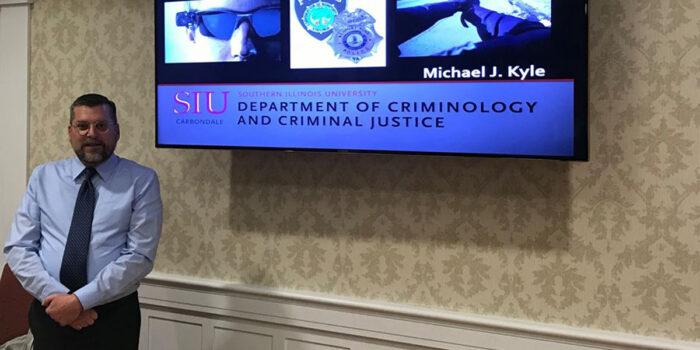 MSU criminology professor Dr. Michael Kyle gives PhD dissertation defense