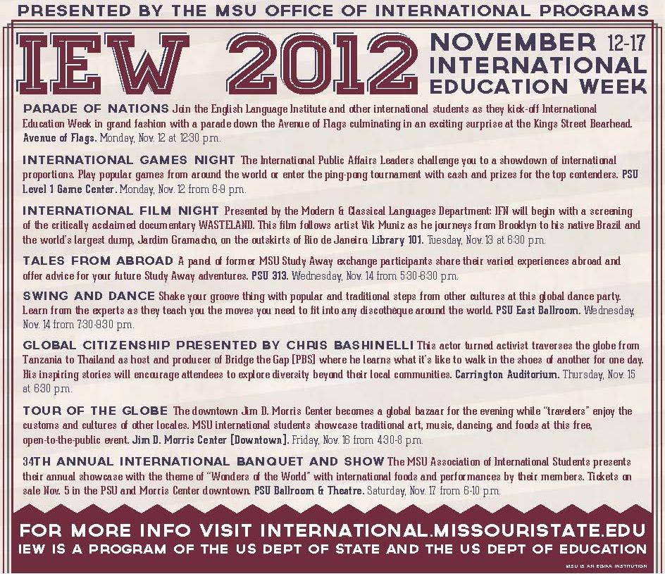 International education week international education week november 12 17 2012 presented by the msu office of international programs publicscrutiny Images