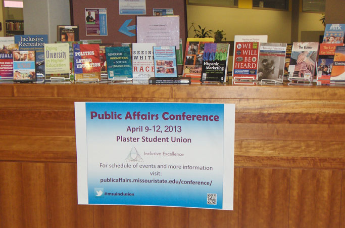 diversity and inclusion display in meyer library